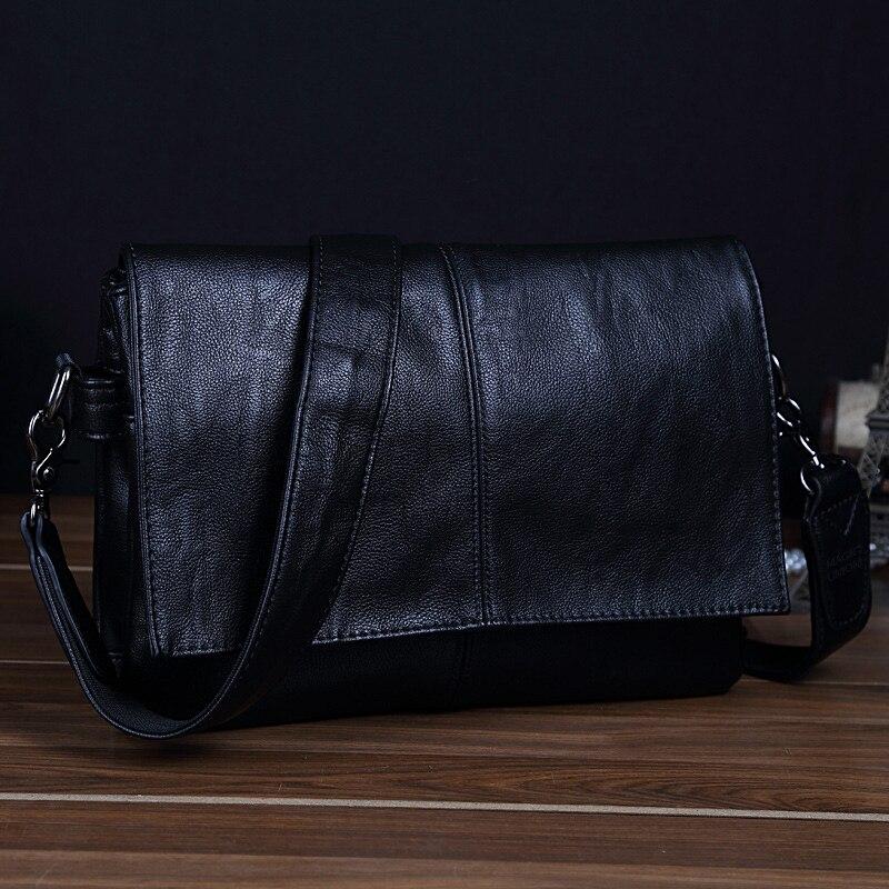Magic union hombres bolso de cuero del estilo del sobre bolsa de mensajero de gran capacidad bolsas de alta calidad bolsos de cuero de los hombres