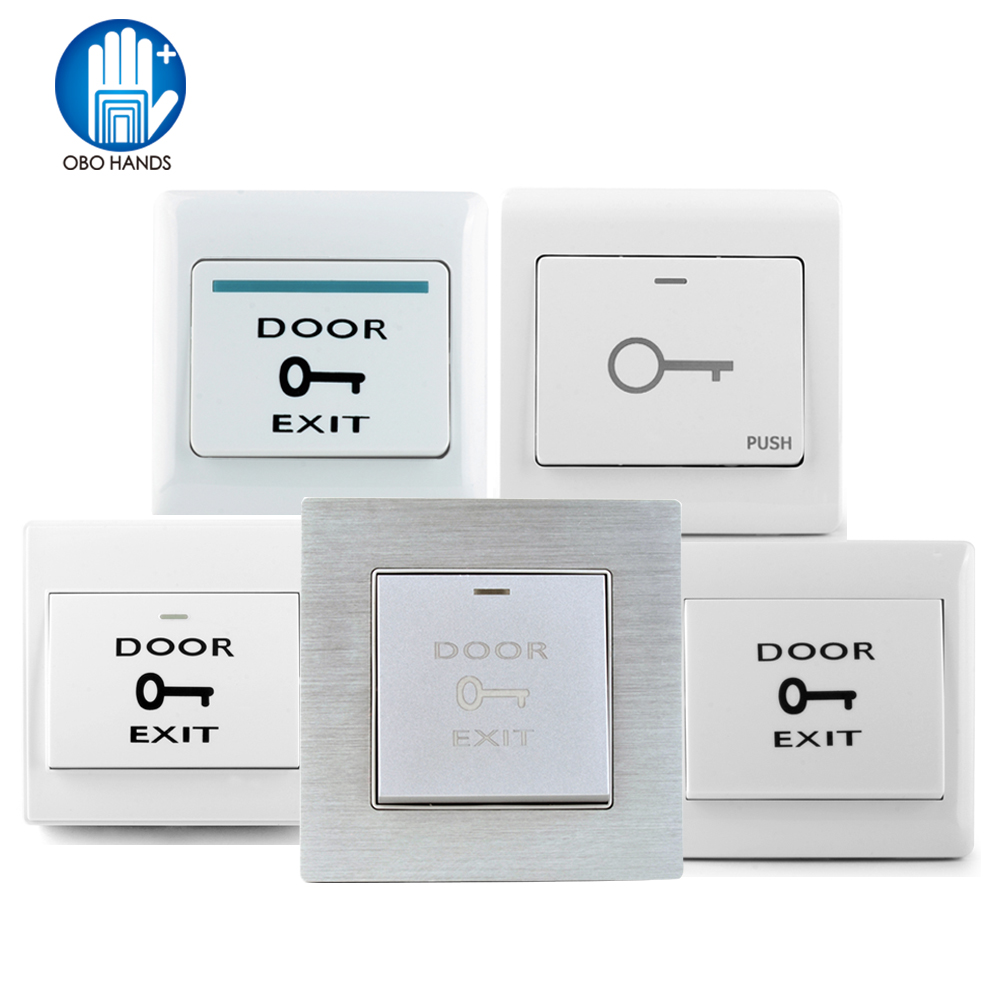 Access Control 2 Pcs Of Mool Aluminum Exit Door Strike Push Release Button Switch Panel For Access Control Back To Search Resultssecurity & Protection