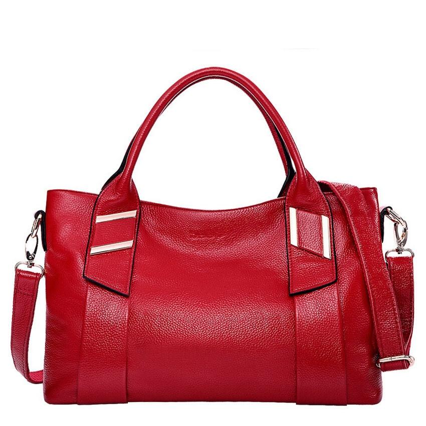 ФОТО 2017 New Fashion genuine leather women bag High quality  Luxury women handbags Messenger Shoulder Bag 50ZD