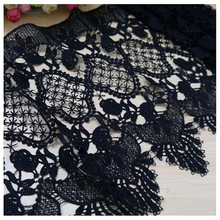 Japanese and Korean sewing accessories black lace trimming for DIY design 31cm wide embroidery milk silk crafts materials
