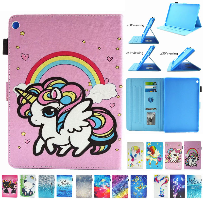 Fashion painted unicorn Pu leather stand holder Cover Case For Huawei Mediapad M3 Lite 8.0 CPN-W09 CPN-AL00 8.0 inch Tablet