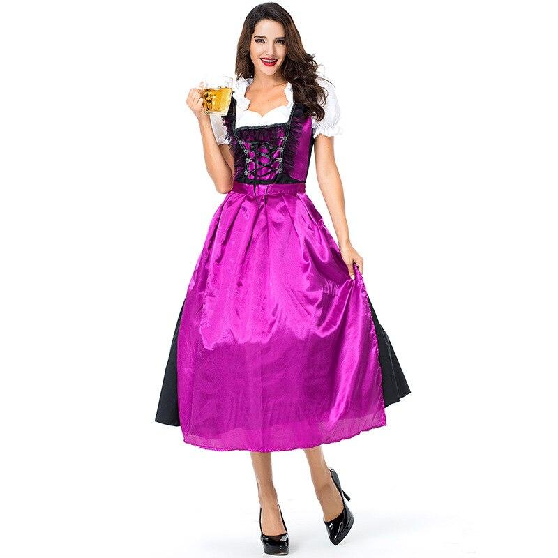 2019 Adulte Oktoberfest Cosplay déguisement Allemand Bière Domestique Costume Femmes Bavière Carnaval Halloween Party Costume grande taille
