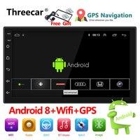 Auto Radio 2 Din Android 8 GPS Navigation Car Radio Car Stereo 71024*600 Universal Car Player Wifi Bluetooth USB Audio