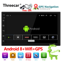 Auto Radio 2 Din Android 8 GPS Navigation Car Radio Car Stereo 71024*600 Universal Car Player Wifi Bluetooth USB Audio