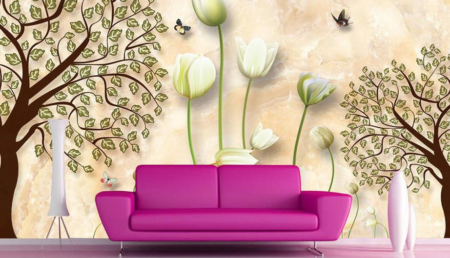 Custom Wall paper Mural 3d Modern Wall paper Bathroom Restaurant Wallpaper Background Wall papers Home Decor