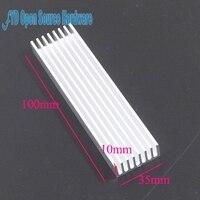 10pcs 100 35 10mm Heatsink Cooler Cooling Fin Aluminum Radiator Heat Sink For LED Power IC