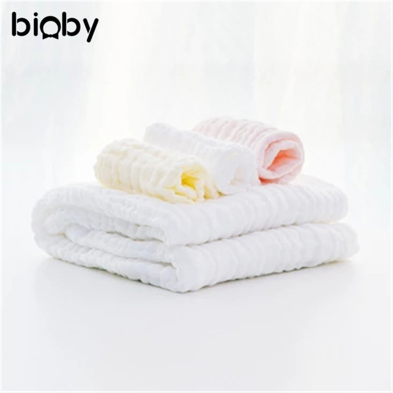 4 Pieces Baby Infant Cotton Towel Gauze Soft Cute Handkercheif Square Bath Towel Set Child Feeding Bathing Face Washing Gift Box