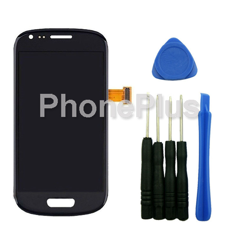 ФОТО For Samsung Galaxy S3 Mini i8190 Front Glass Lens LCD Display Digitizer Assembly Replacement Parts