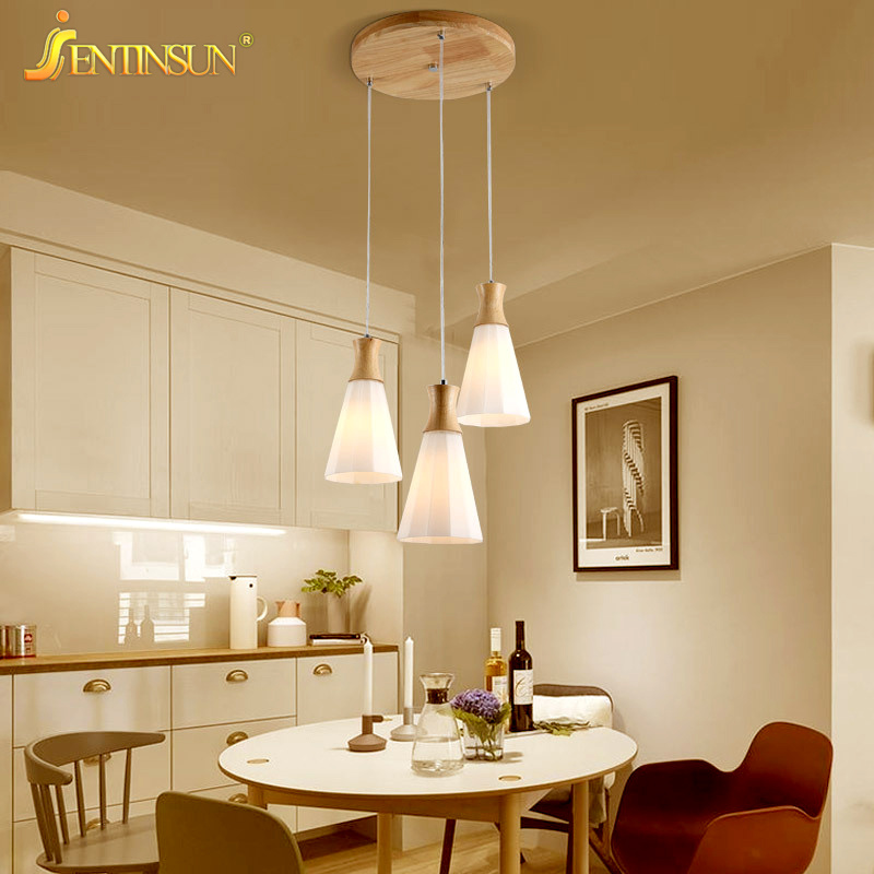 New Badminton Shape Indoor Lighting Wood Glass Pendant Lights LED Cord Pendant Fashion Home Fixtures Hanging Lamp for Restaurant dimmable pendant lights led crystal lighting hanging lamps indoor home light with remote control for hallway indoor home deco