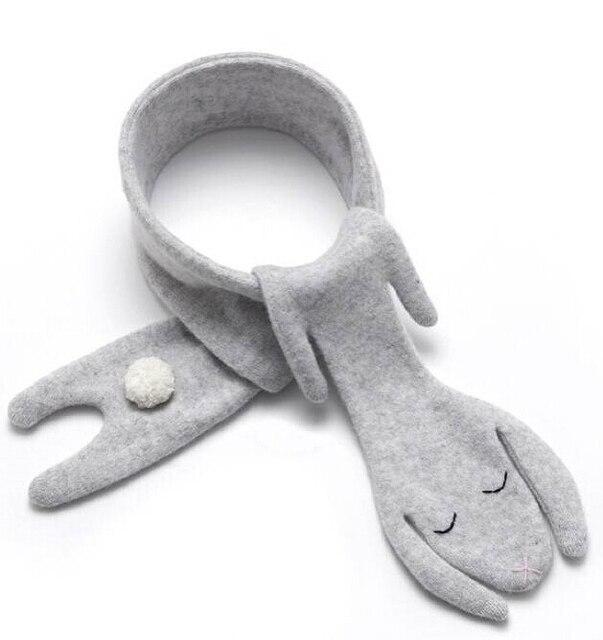 Myudi -  Mommy Baby Scarf Autumn Winter Lovely Bunny Cashmere Cotton Bibs Rabbit Puppy Style Kids Boys Girls Neckerchief Scarves