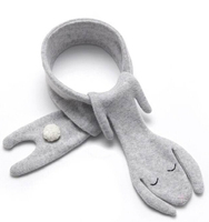 Myudi - Mommy Baby Scarf Autumn Winter Lovely Bunny Cashmere Cotton Bibs Rabbit Puppy Style Kids Boys Girls Neckerchief Scarves