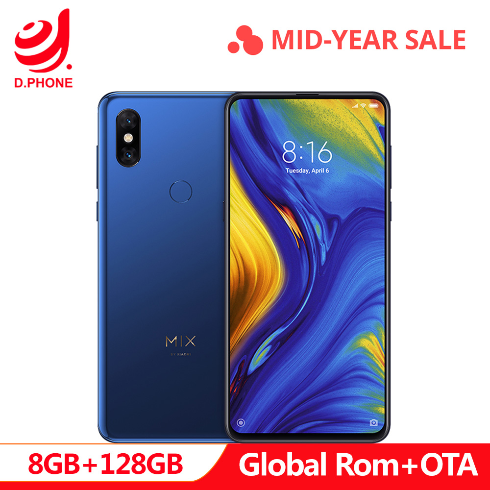 Rom globale officielle Xiao mi mi mi x 3 8 GB Ram 128 GB Rom Snapdragon 845 Octa Core 6.39 19.5: 9 Qi Smartphone de charge sans fil