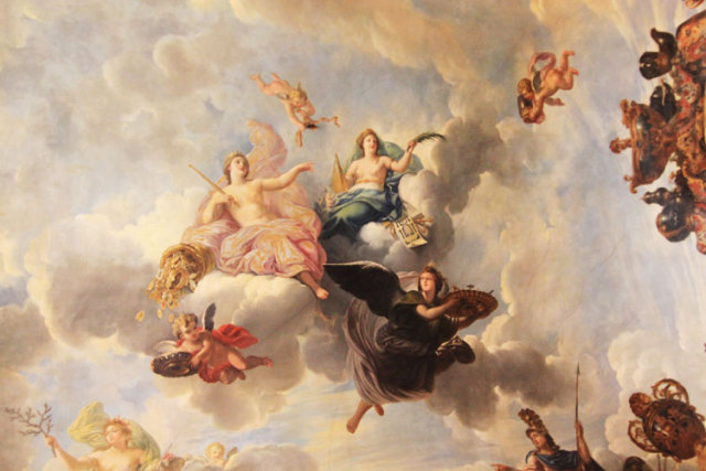 Fashion Greek Mythology Angel Mary Oil Painting Ceiling