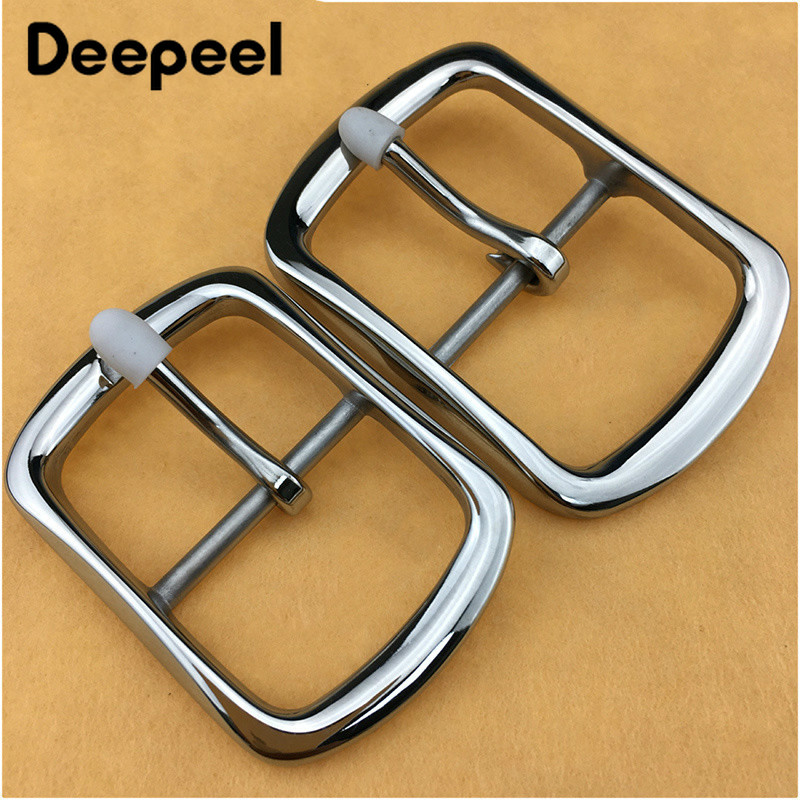 1Pc Meetee 35mm 40mm High Quality Men Stainless Steel Belt Buckles Metal Pin Belt Buckle DIY Leathercraft Jeans Accessory YK120