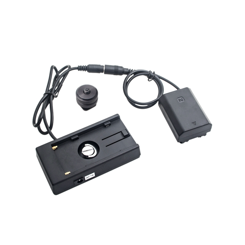 Adaptateur secteur Np-Fz100 batterie factice + F970 batterie Backplane Pack connecteur coupleur cc pour batterie appareil photo Sony