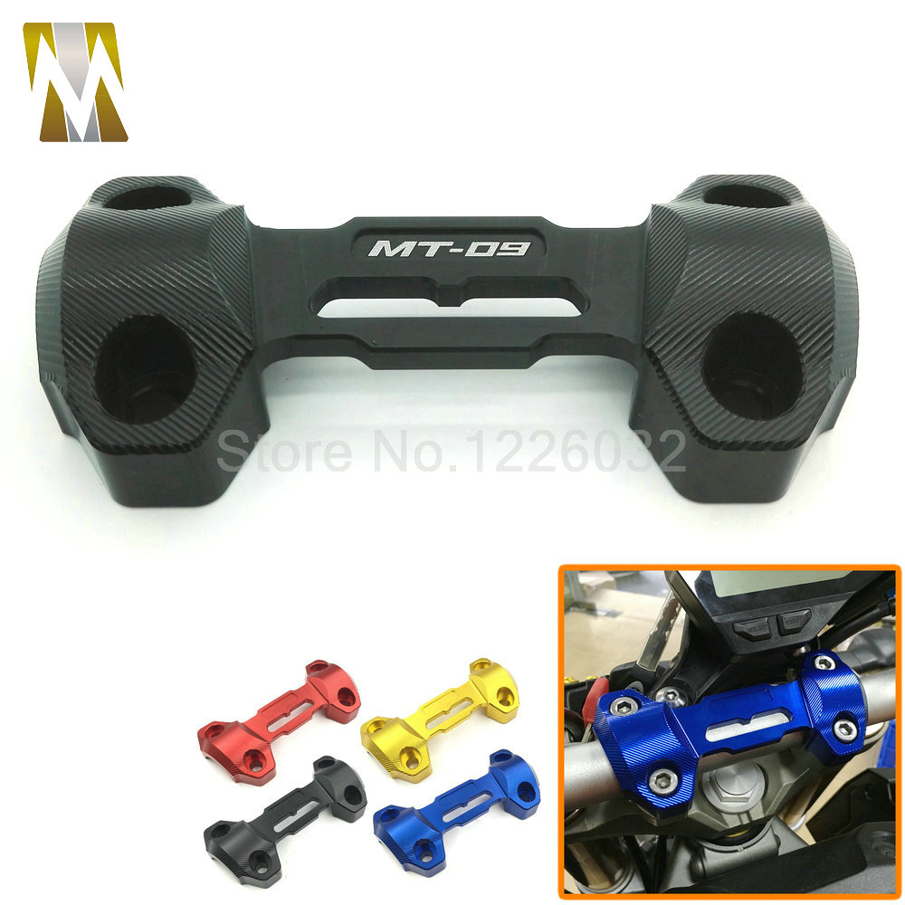 Motocross motorcycle CNC Handlebar Risers Top Cover Clamp Motorcycle Accessories For Yamaha MT09 FZ9 2013 2014 2015 free shipping motorcycle cnc aluminum handlebar risers top cover clamp fit for honda msx125 msx 125 2013 2014 2015 2016