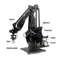 Abb Pompa Mekanik Robot Kolu Vantuz Simülasyon Sanayi Tam Dijital Servo Manipülatör ile Cam Elyaf Standı + Denetleyici