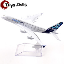 16cm Passenger Air Plane Model Airbus A380 Diecast Alloy Airplane Aircraft Kids Toys brinquedos Collectible Birthday Gifts C