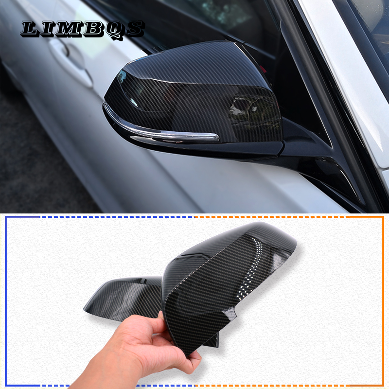 For BMW Series 1 2 3 4 X M 220i 328i 420i F20 F21 F22 F23 F30 F32 F33 F36 X1 F87 E84 X1 M2 Rearview Mirror Cover Cap ABS Carbon