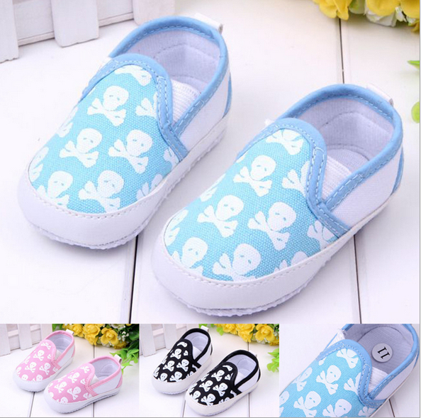 Toddlers Baby First Walker Fashion Spring Autumn Baby Shoes Infant Cool Skull Antiskid Soft Bottom Shoes