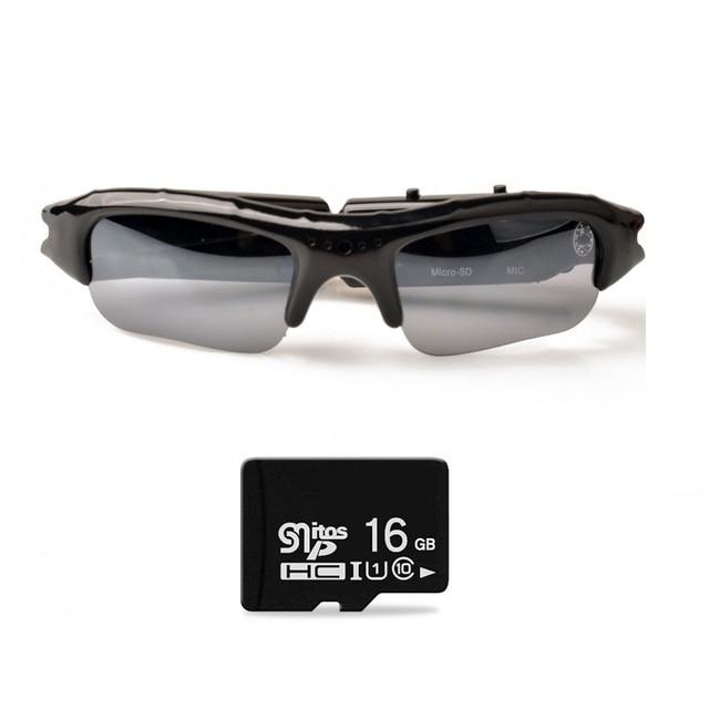 Lightdow Mini Occhiali Da Sole Occhiali Digital Video Recorder Macchina Fotografica di Vetro Mini Videocamera Video Occhiali Da Sole DVR
