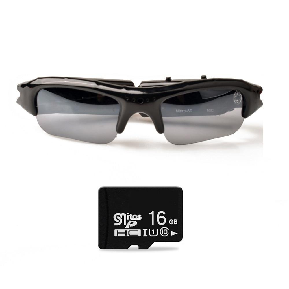 Lightdow Mini Sun Glasses Eyewear Digital Video Recorder Glasses Camera Mini Camcorder Video Sunglasses DVR(China)