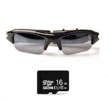 Lightdow Mini Sun Glasses Eyewear Digital Video Recorder Glasses Camera Mini Camcorder Video Sunglasses DVR цена 2017