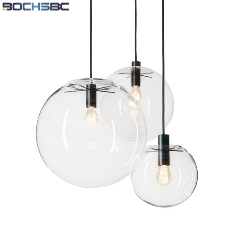 Nordic Dinning Room Bar Glass Globe Pendant Lights Modern Glass Hanging Lamp E27 Suspension Kitchen Light Fixtures Home Lighting best 3 pieces chrome waterfall spout two hot cold handle hose deck mount 55d bathtub torneira tap mixer faucet