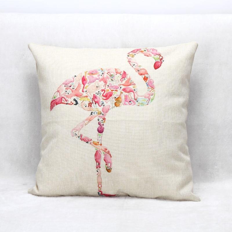 45cm*45cm Cushion Cover Pillow Case Animal Firebird Sheep Goat Elk Turkey  Rabbit Dog Linen