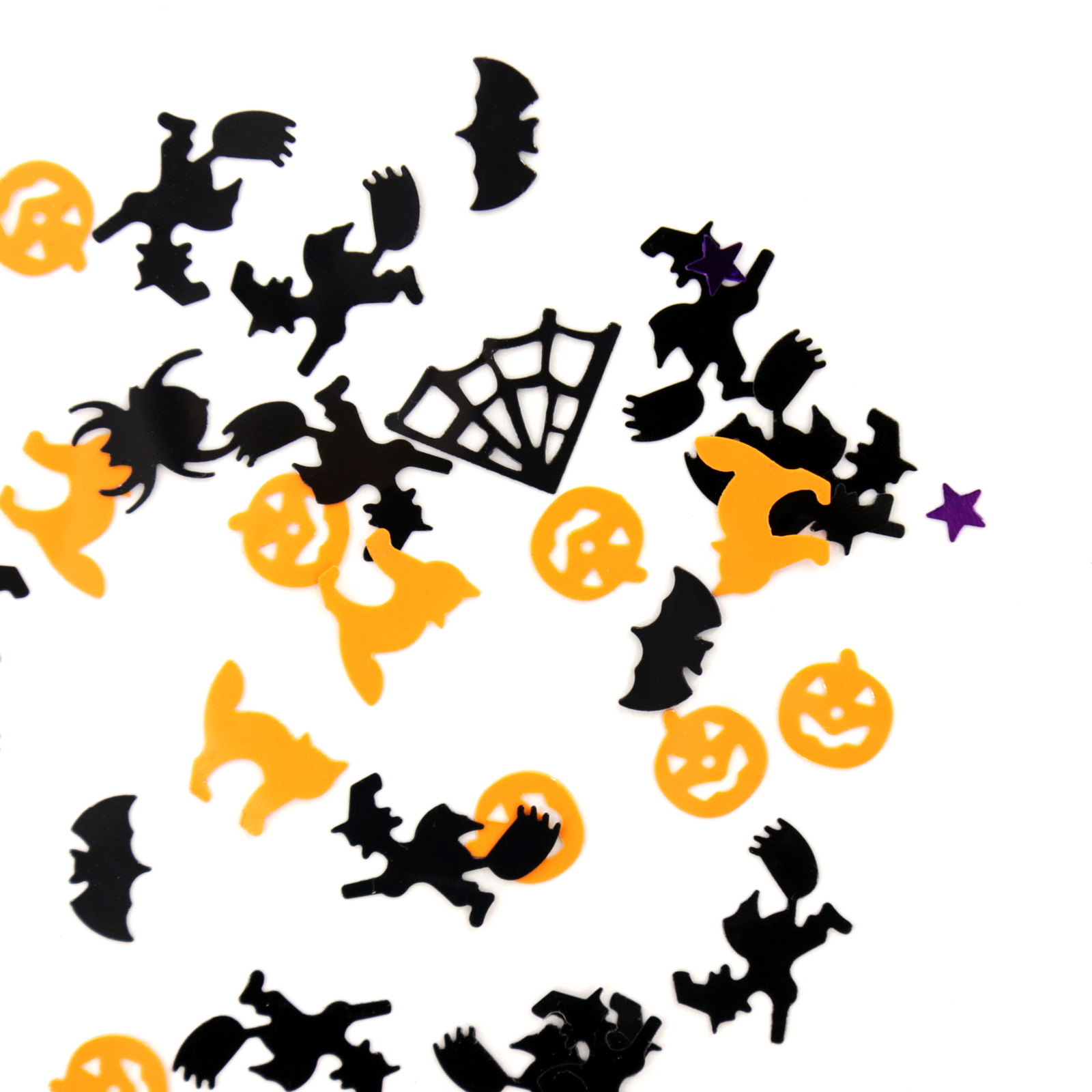 Image 5 - 15g Halloween Confetti Pumpkin Spider Bat Witch Spider web Sprinkles Table Confetti Bright Halloween Night Decor Party Supplies-in Party DIY Decorations from Home & Garden