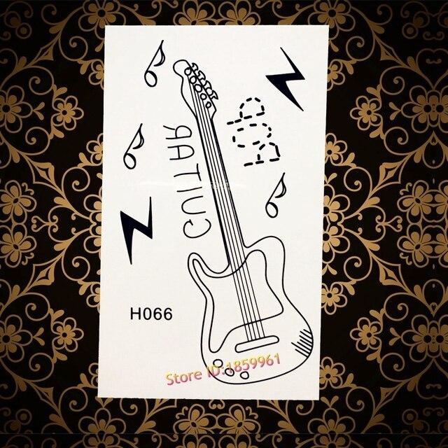3d Guitare Etanche Tatouage Temporaire Femmes Enfants Body Art Bras
