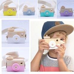 Schöne holz spielzeug baby kinder fotografie prop hängen kamera dekoration kinder pädagogisches geburtstag kinder Spielzeug mini Kameras