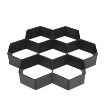 Hexagon Concrete Molds Garden Decoration Plastic Cement