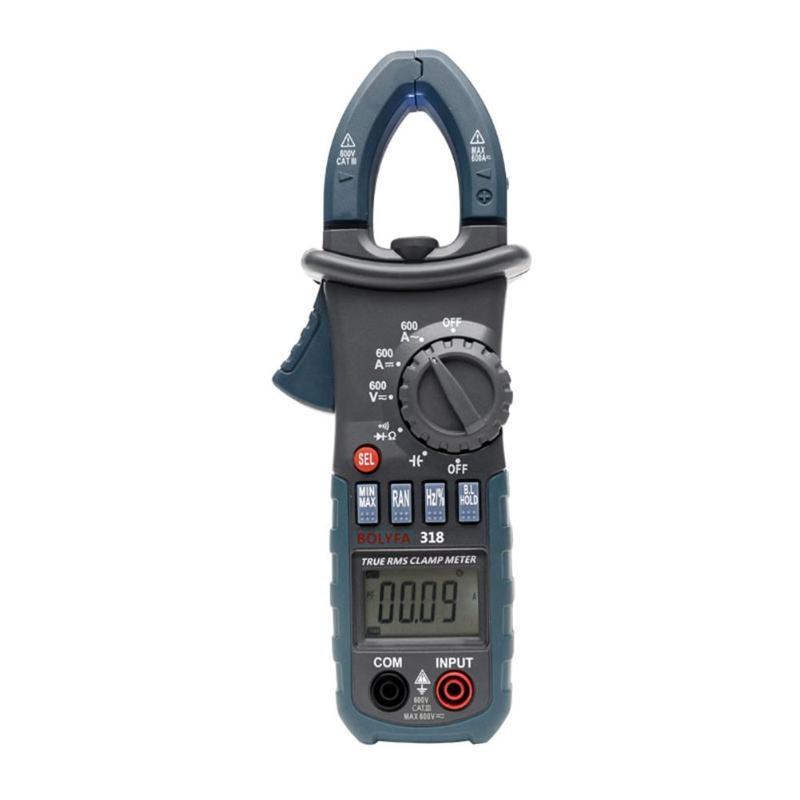 BF318 Professional Handheld Digital Clamp Multimeter AC/DC Ammeter Voltmeter Resistance Capacitance Meter Tester auto digital multimeter 6000counts backlight ac dc ammeter voltmeter transform ohm frequency capacitance temperature meter xj23