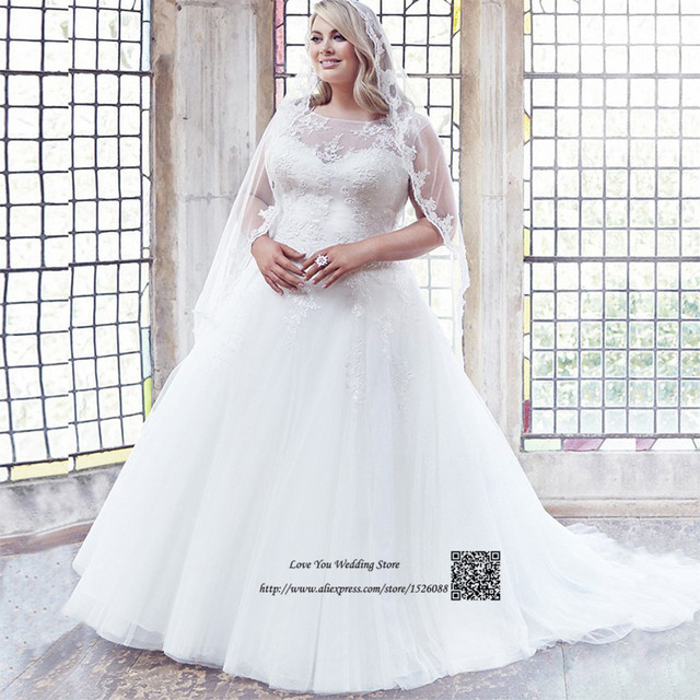 Vestido De Noiva Plus Size Wedding Dress Lace White Gowns Online China Princess Bride