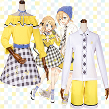 Hatsune Miku Cosplay Costumes Kagamine Rin Ren Costume Halloween Carnival Party Customized