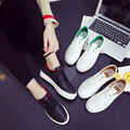 2017 new fashion white shoes women flat sandals white shoes with casual shoes canvas vulcanization shoes
