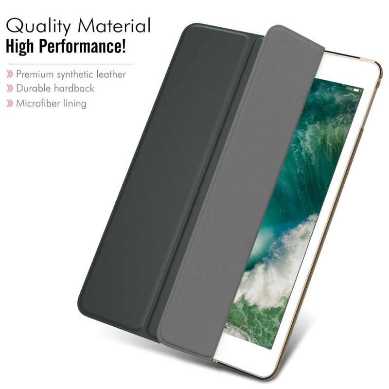 حافظة لجهاز iPad 2 3 4 A1460 حافظة من السيليكون الناعم من الخلف مع غطاء ذكي تلقائي للنوم/الاستيقاظ من الجلد الصناعي لجهاز iPad 3 4 2