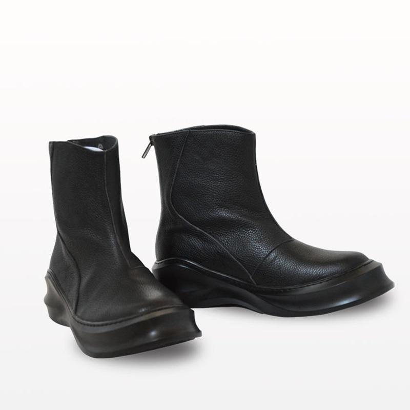 cc06ed2cf4d Comprar Botas Martin de cuero genuino para hombre Botas de combate de piel  de vaca de terciopelo hombres Otoño Invierno zapatos de punta de acero  retro ...