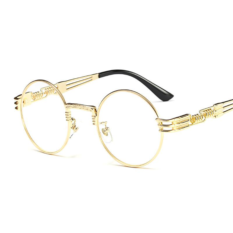 New Colorful Lens Fashion Gold Round Frames Sunglasses For Women ...