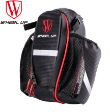 WHEEL UP 2 Pockets Bike Bag With Lid MTB Road Bicycle Cycling Seat Post Saddle Bike
