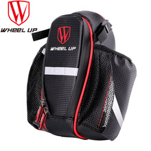 WHEEL UP 2 Pockets Bike Bag With Lid MTB Road Bicycle Cycling Seat Post Saddle Bike Bags Bike Accessories For Water Bottle