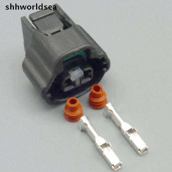 Shhworldsea 2 Pin Car Automotive Plug Wiring Connector 7283-7526-30 For Lexus Toyota VVT I Solenoid Connector 1JZ 2JZ 1UZ 3UZ