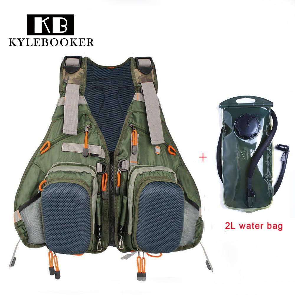 Multifonction sacs de plein air sport sac à dos chasse pêche gilet escalade accessoire sac + 2L hydratation eau Pack vessie