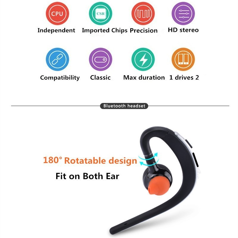 Voice control Bluetooth headset Noise cancelling isolation wireless earphone with microphone handsfree sports music headphone (20)