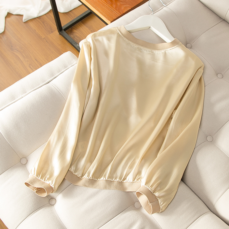 Champagne 100% silk Long 17