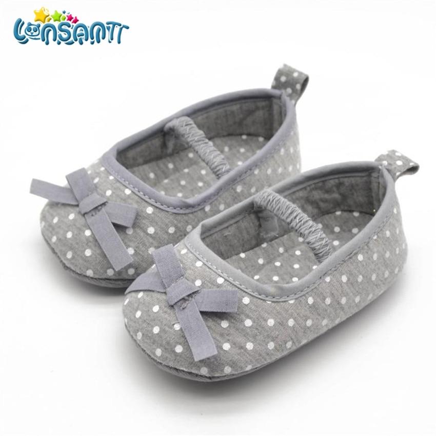 LONSANT Girls Shoes Prewalker Bowknot Infant Soft-Bottom Autumn Dot Cute Spring