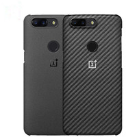Oneplus 5t Case Official 100 Original Oneplus 5 Back Shell Matte Sand Carbon Fiber Cover For