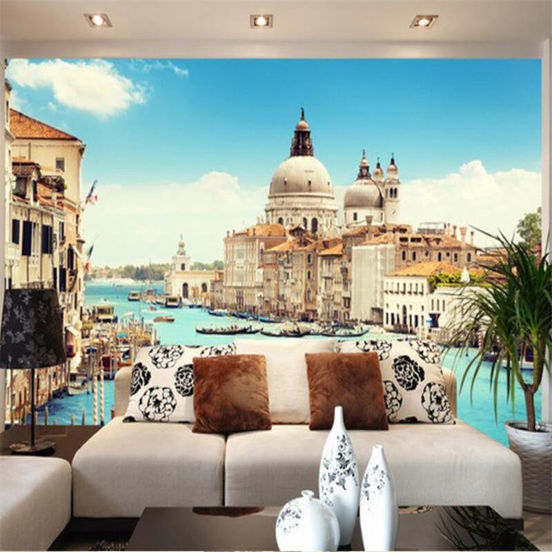 Us 8 85 41 Off Beibehang Papel De Parede Custom Wallpaper Venice Italy 3d Landscape Background Wall Papel De Parede 3d Para Sala Atacado In