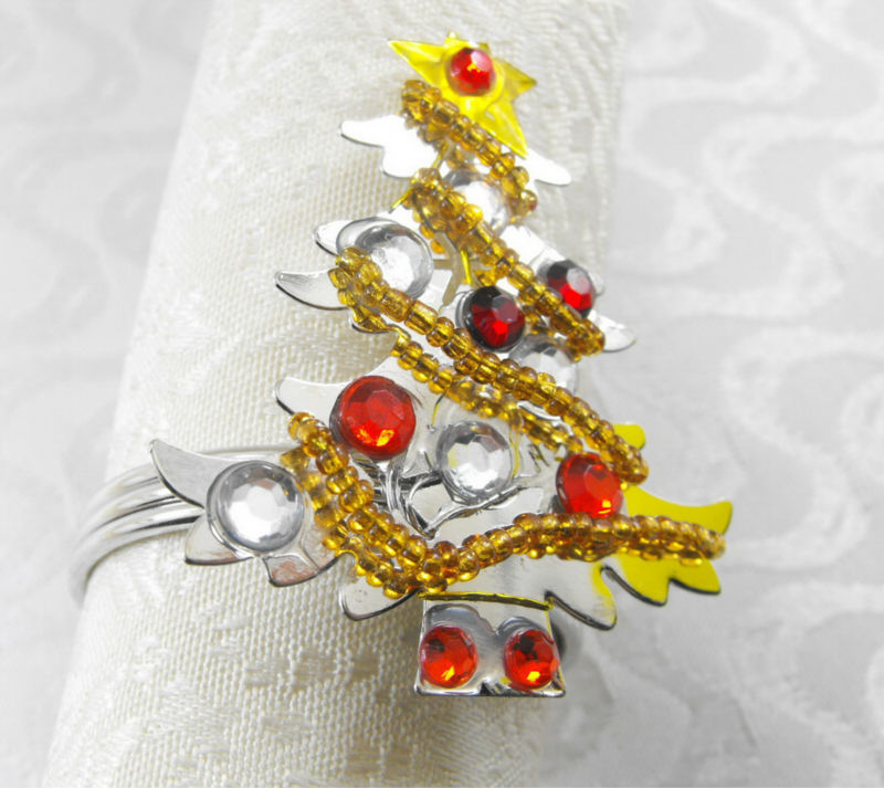 Christmas Tree Napkin Rings.Us 0 67 15 Off Christmas Tree Napkin Ring Holidaynapkin Holder In Napkin Rings From Home Garden On Aliexpress Com Alibaba Group